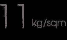 11kg/sqm